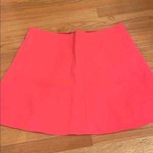 Pink j crew skirt
